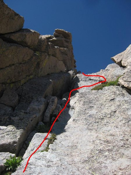 Route up the Stepladder (5.4).