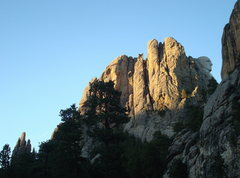Rock Climbing Photo: Dire Spire in the lower left, George Washington hi...