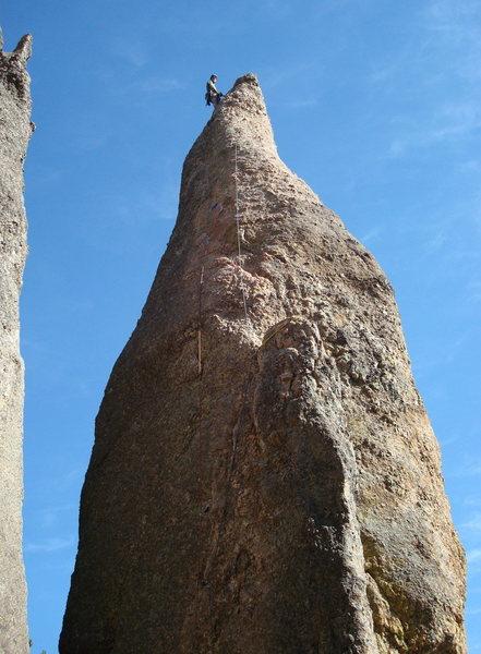 Rock Climbing Photo: Jay atop Triconi Nail.  He led Cerebus (5.8)