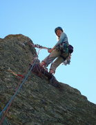 Rock Climbing Photo: Me at the summit of Inner Course (5.4) in the Outl...