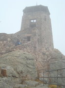 Rock Climbing Photo: The tower at the top of Harney Peak.  We hiked up ...