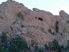 Rock Climbing Photo: West Face and north end of Keyhole Rock.  The Keyh...