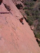 Rock Climbing Photo: Jes Meiris, just above the crux on the first pitch...