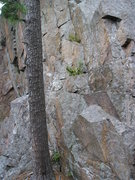 Rock Climbing Photo: Better view of route base.