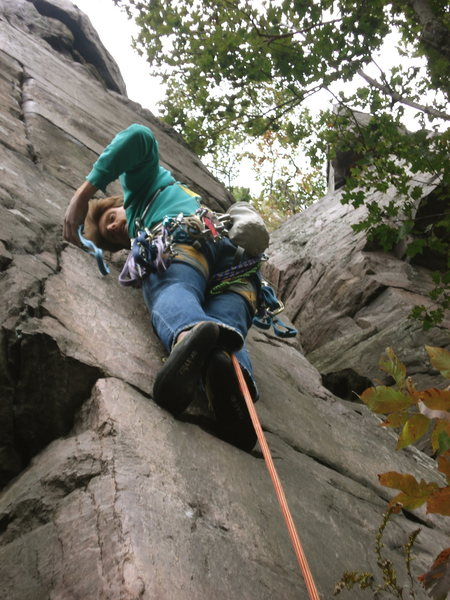 Rock Climbing Photo: Rhoads gets the first gear in on Whipping Boy.
