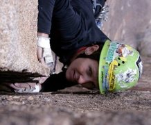 Rock Climbing Photo: Mary Moser leading Opus Dihedral