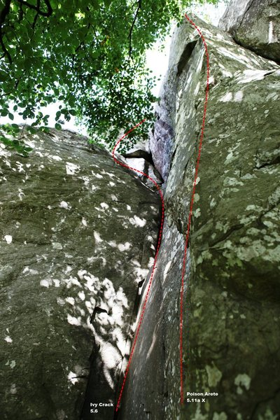 Ivy Crack and Poison Arete Topo