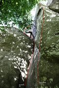 Rock Climbing Photo: Ivy Crack and Poison Arete Topo