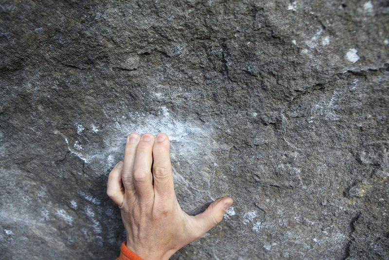 Rock Climbing Photo: Small greenstone crimps