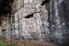 Rock Climbing Photo: Main Face Center Detail Topo