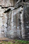Rock Climbing Photo: Main Face Right Detail Topo