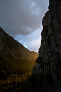 Rock Climbing Photo: Mark Hammond nearing the top of the second pitch a...