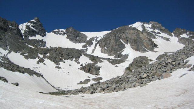 Rock Climbing Photo: Snowfields #2, 6/24/10.