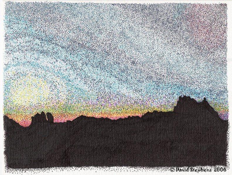 Sunrise on Mount Stuart