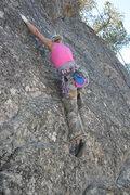 Rock Climbing Photo: Shanay starting up Extinction 5.11b