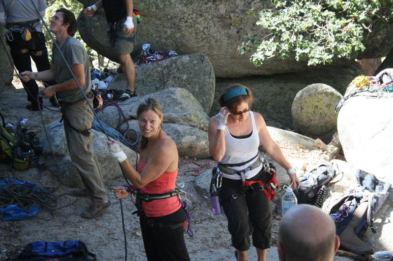 Rock Climbing Photo: Noelle and Deb.