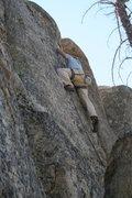 Rock Climbing Photo: John on Sprockets 5.10c.