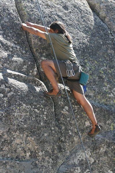 Rock Climbing Photo: Albert on Extinction 5.11b.