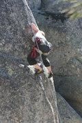 Rock Climbing Photo: Deb on Cinder 5.11a.