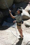 Rock Climbing Photo: Kenn on belay.