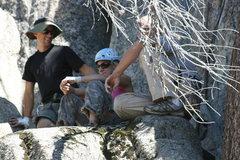 Rock Climbing Photo: Jeff, Shanay and John.
