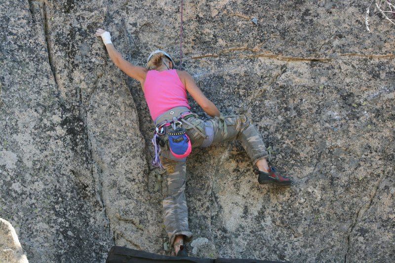 Rock Climbing Photo: Shanay working on Sprockets 5.10c.