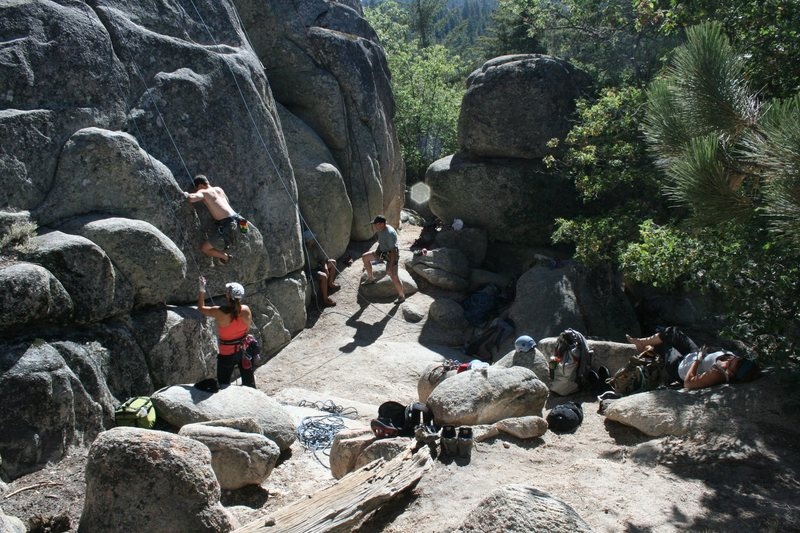 Rock Climbing Photo: Clockwise - Noelle, Jeff, Albert, Kenn and Deb.