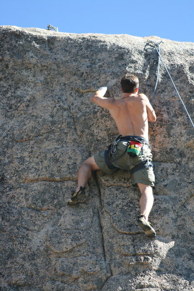 Rock Climbing Photo: Jeff on Extinction 5.11b.
