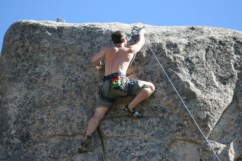 Jeff on Extinction 5.11b.