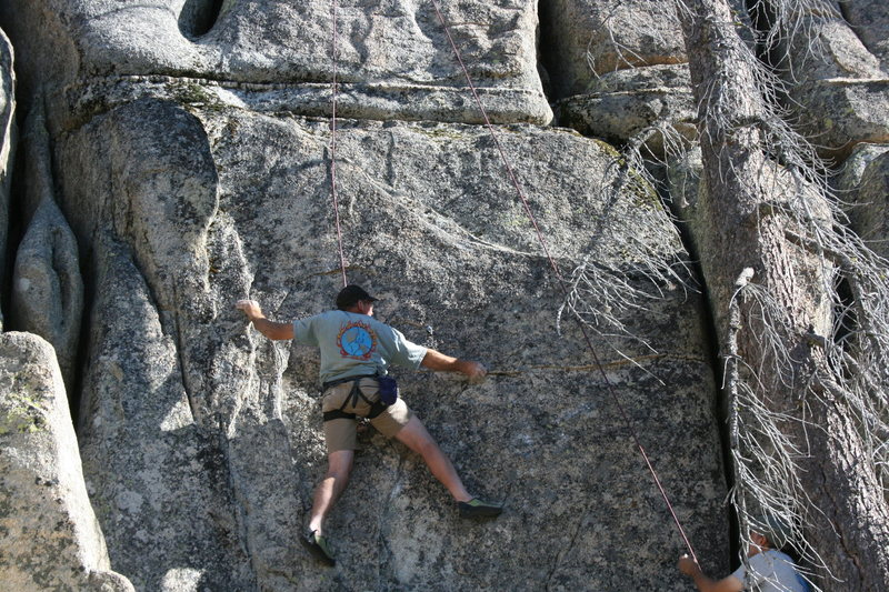 Rock Climbing Photo: Kenn on Sprockets 5.10c.