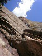 Rock Climbing Photo: Cruising up the corner....