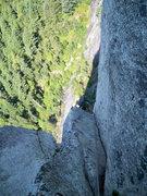 Rock Climbing Photo: Zac on U-Wall pitch 5, Squamish