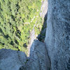 Zac on U-Wall pitch 5, Squamish