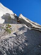 Rock Climbing Photo: Tony on U-Wall Pitch 1
