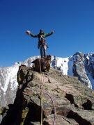 Rock Climbing Photo: Top of the Petit Grepon, RMNP