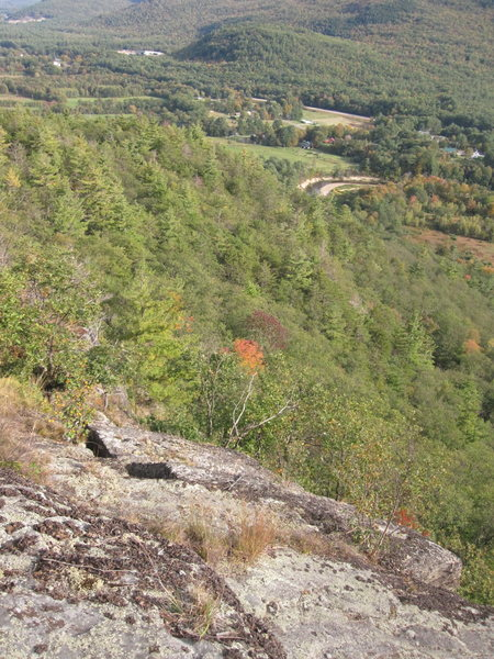 Rock Climbing Photo: The top of the climb. This area many of the trees ...