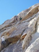 Rock Climbing Photo: White Lightning, J-Tree
