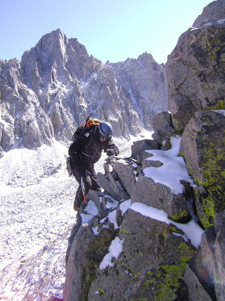 Rock Climbing Photo: Unnamed Peak in Middle Palisade Range.  2009