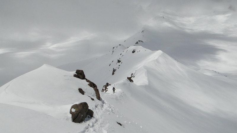 Green Butte Ridge. Mt. Shasta. Memorial Day 2010