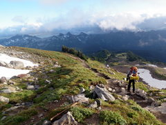 Rock Climbing Photo: Trail back to Paradise.  Mt. Rainier. Labor Day 20...