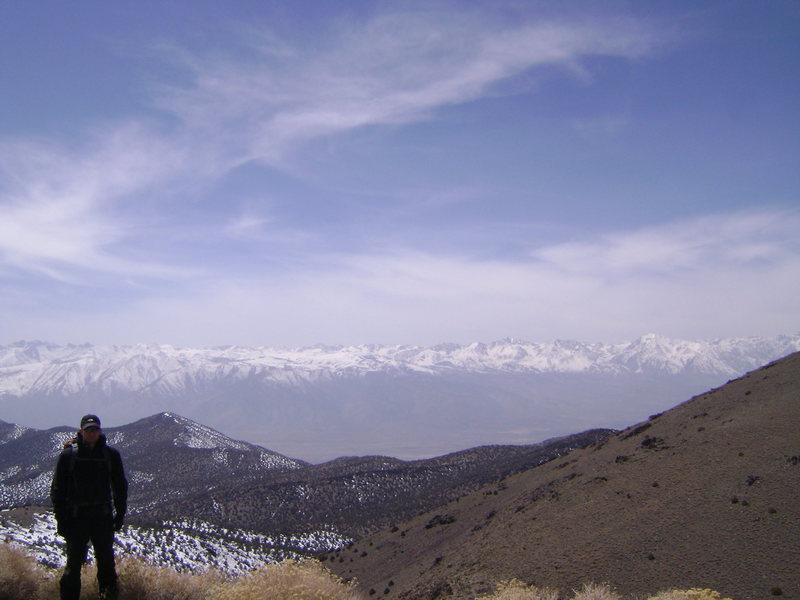Rock Climbing Photo: View of Sierra Nevada Range from White Mountains