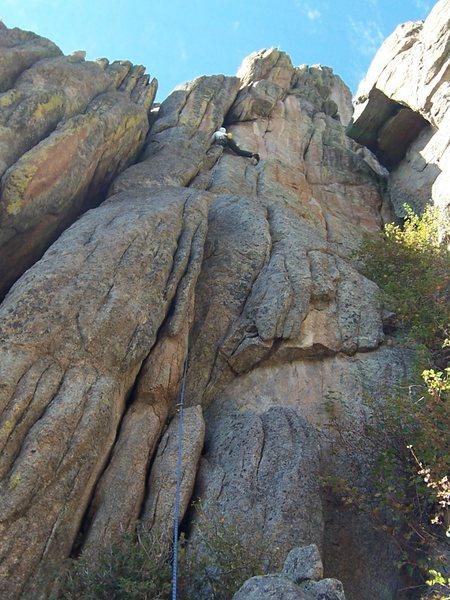 Rock Climbing Photo: The route....