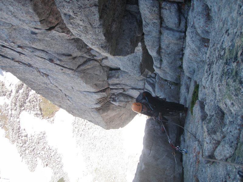 Rock Climbing Photo: P 3 Summit wall