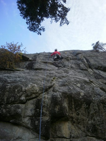 "Rock Climbing Photo: About to make the ""technical crux"" move ..."