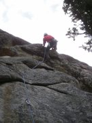 Rock Climbing Photo: Rock'n onto that right foot....