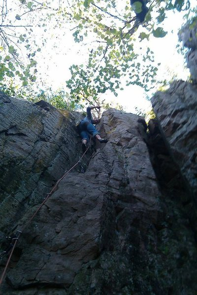 Rock Climbing Photo: Cody Brua doing the first accent of racecar ya ya'...