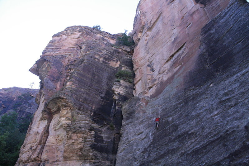 first sport route in WCC,first time the bolts were clipped,first time to climb with a pinched sciatic nerve.
