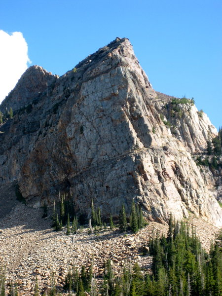 Sundial peak as we hiked down after the climb.