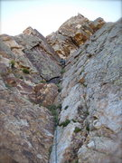 Rock Climbing Photo: The third pitch of eleventh hour.  Just about to r...