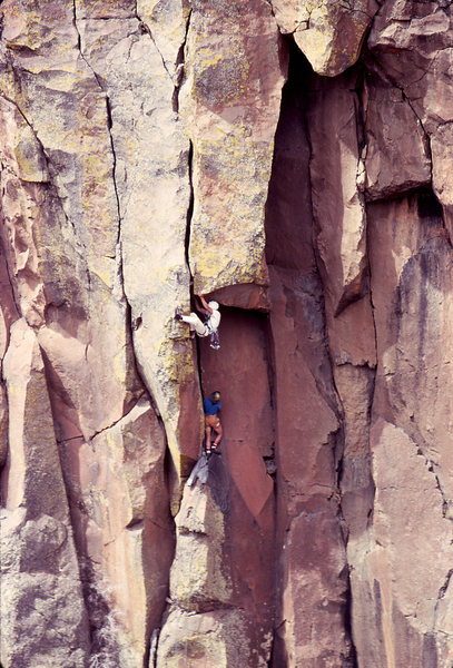 Rock Climbing Photo: Steve Grossman (during his Royal Robbins phase) tu...